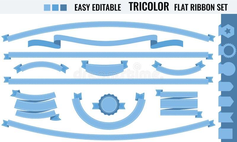 Ensemble de rétros insignes, de labels, de rubans, de conception et d'éléments infographic illustration stock