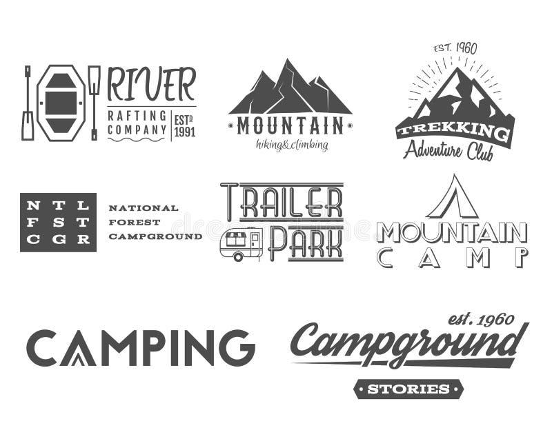 Ensemble de rétros insignes et de graphiques de logo de label illustration stock