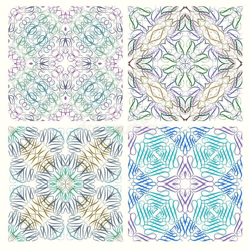 Ensemble de rétros modèles sans couture des éléments graphiques illustration de vecteur