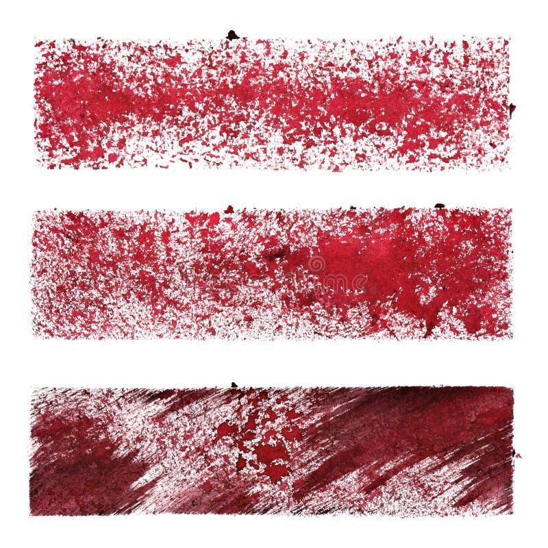 Ensemble de rayures rouges de pochoir illustration stock