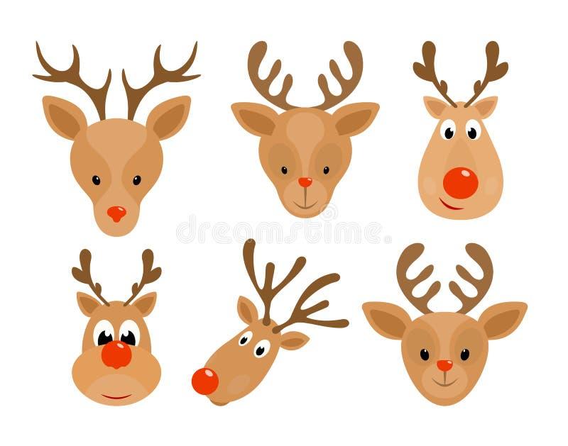 Ensemble de renne de Noël illustration stock