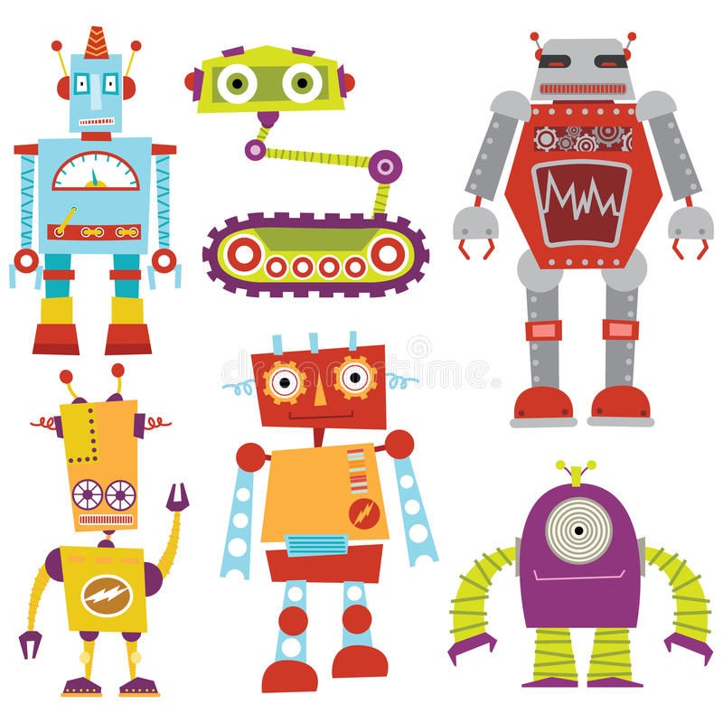 Ensemble de robot illustration libre de droits