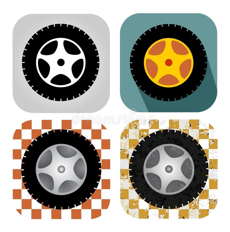 Ensemble de roue illustration stock