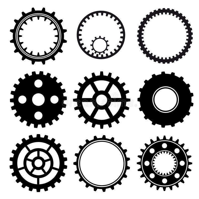 Ensemble de roues de trains illustration stock