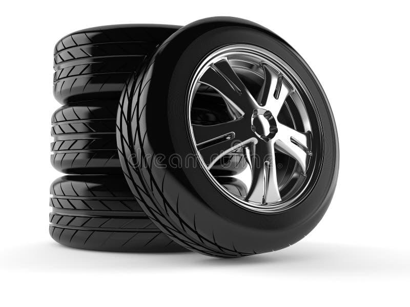 Ensemble de roues de véhicule illustration stock
