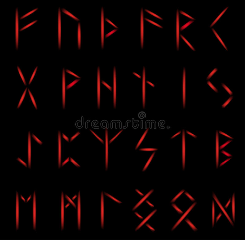 Ensemble de runes illustration libre de droits