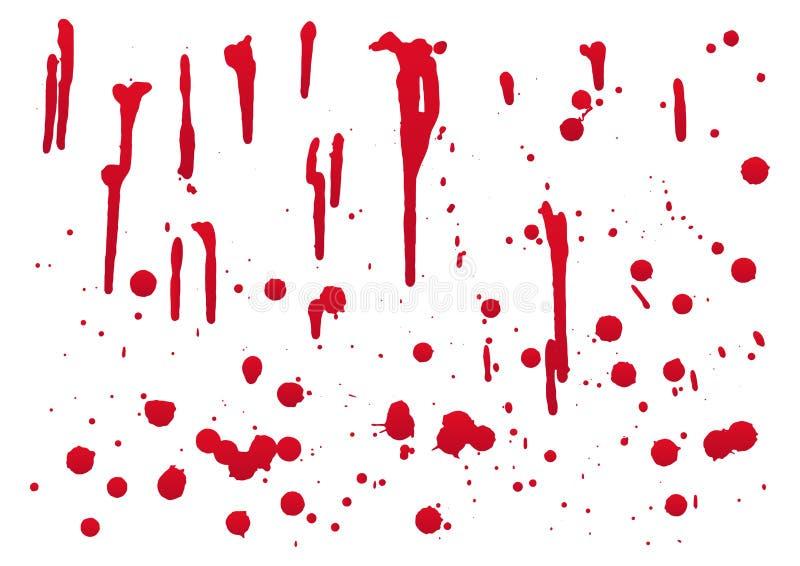 ensemble de sang pour la décoration de Halloween, illustration de vecteur illustration stock