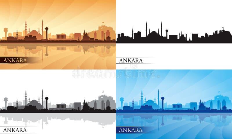 Ensemble de silhouette d'horizon de ville d'Ankara illustration libre de droits