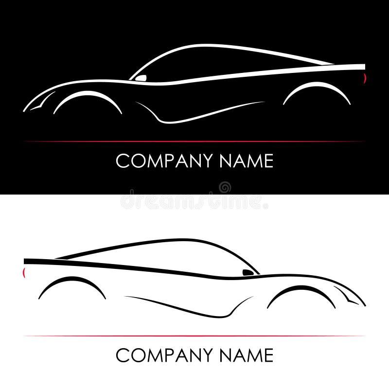 Ensemble de silhouettes abstraites de voiture de sport illustration de vecteur