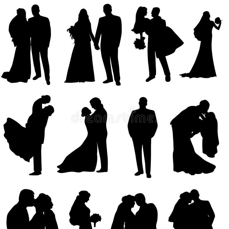 Ensemble de silhouettes de vecteur illustration de vecteur