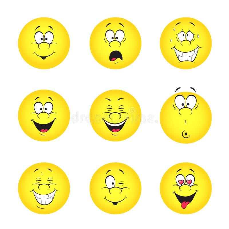 Ensemble de smiley illustration de vecteur
