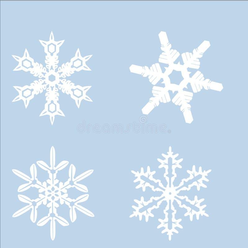 Ensemble de snowflackes image libre de droits