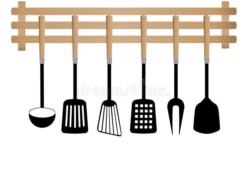 Ensemble de spatule de cuisine de vecteur illustration de vecteur
