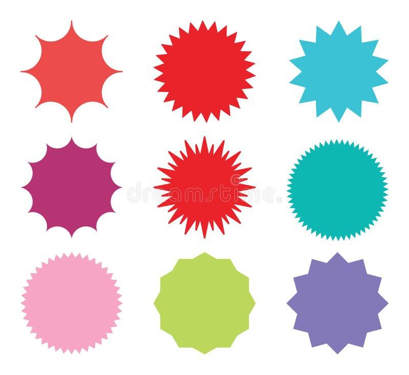 Ensemble de starburst de vecteur illustration de vecteur