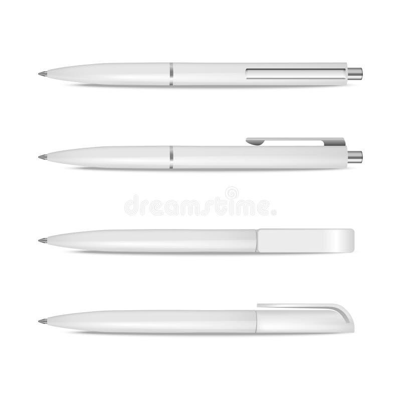 Ensemble de stylos de vecteur illustration stock