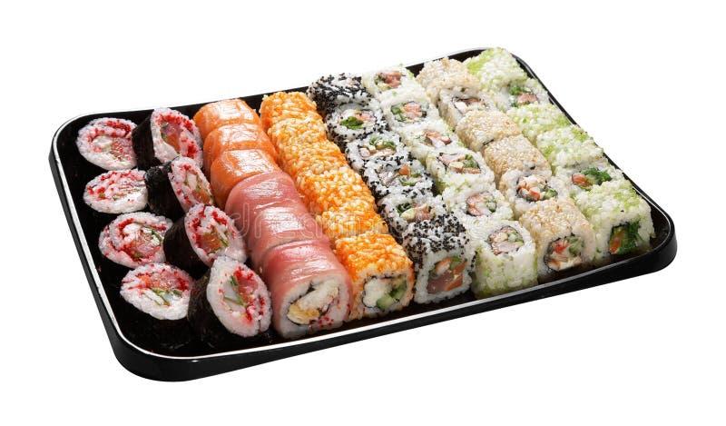 Ensemble de sushi japonais images libres de droits