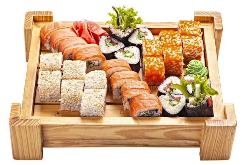 Ensemble de sushi japonais de fruits de mer photo libre de droits