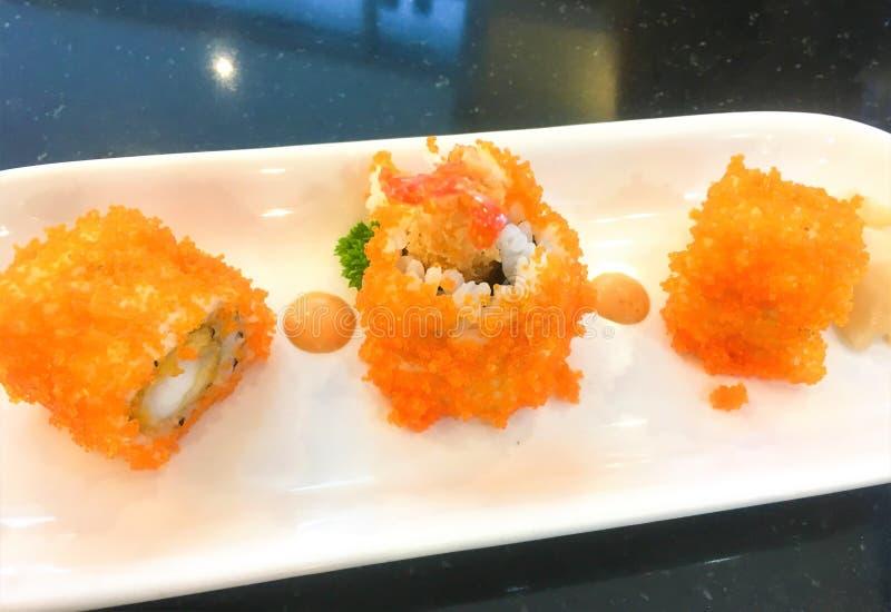 Ensemble de sushi de petit pain Ensemble de sushi de petit pain images libres de droits