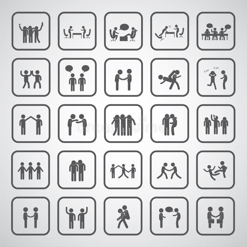 ensemble de symbole d 39 amiti illustration de vecteur illustration du copain joignez 51427375. Black Bedroom Furniture Sets. Home Design Ideas