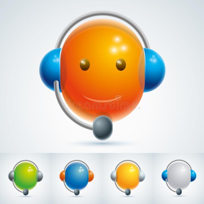 Symbole de centre d'attention téléphonique illustration stock