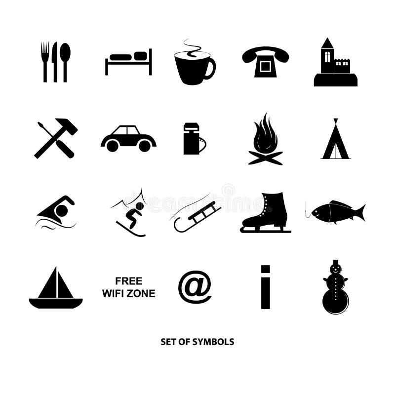Ensemble de symboles illustration de vecteur