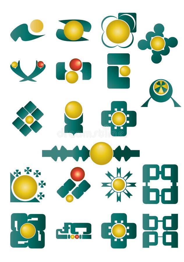 Ensemble de symboles images stock