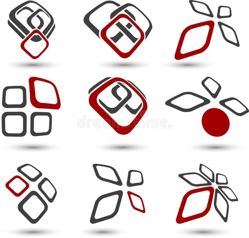 Ensemble de symboles de compagnie. illustration stock