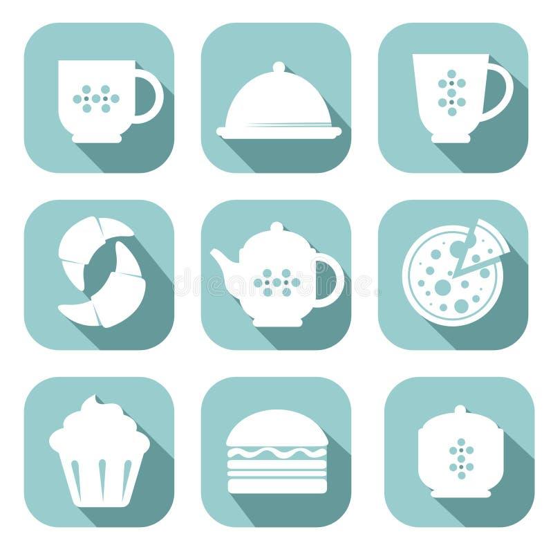 Ensemble de symboles de nourriture illustration stock