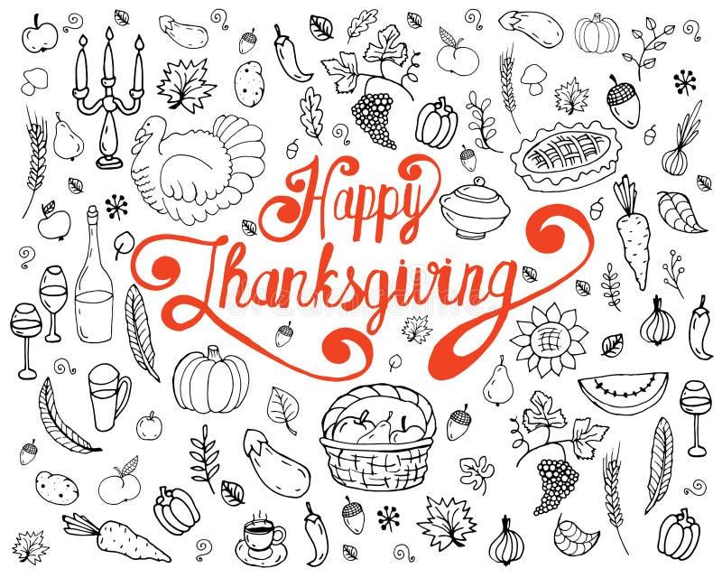 Download Ensemble De Symboles Traditionnels De Thanksgiving Illustration de Vecteur - Illustration du lame, cuisine: 77152339