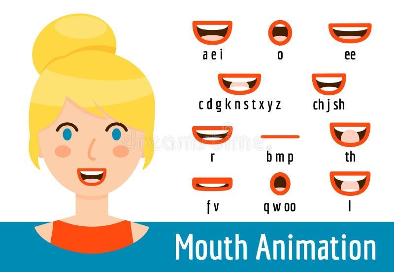 Ensemble de synchronisation de lèvre de bouche illustration stock