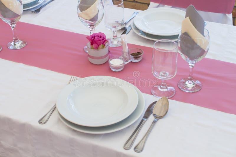 Ensemble de table de mariage images libres de droits