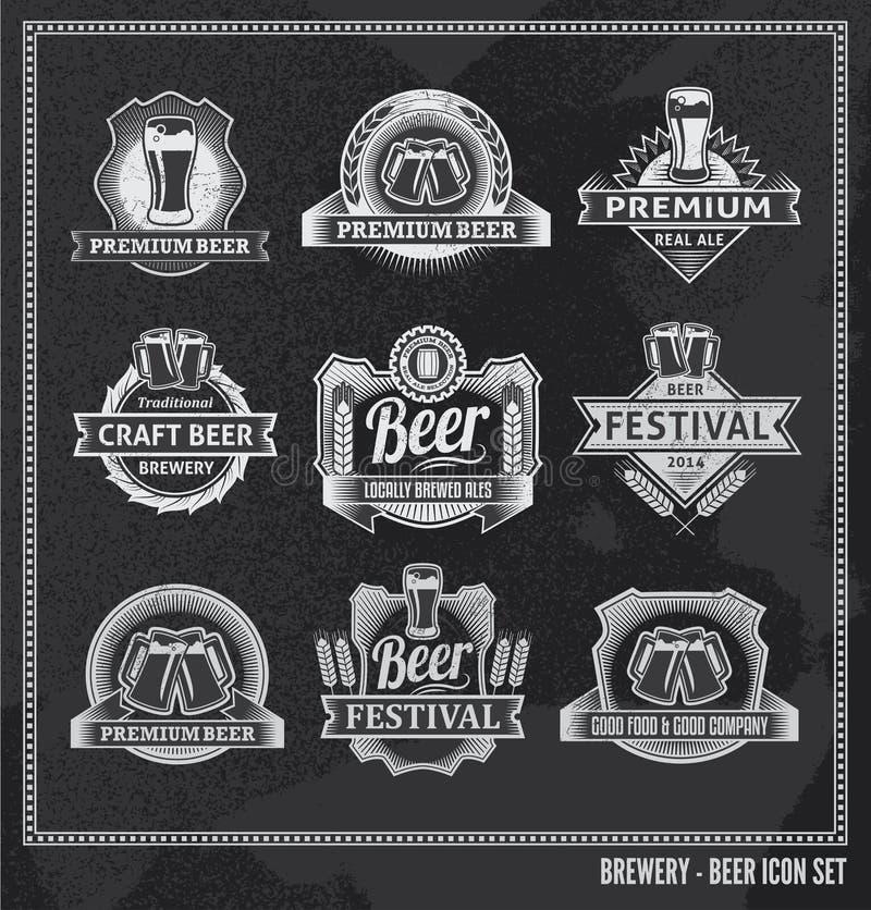 Ensemble de tableau d'icône de bière illustration libre de droits