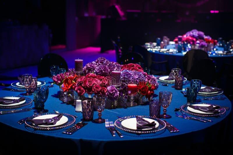 Ensemble de Tableau pour épouser ou un dîner approvisionné différent d'événement photo libre de droits