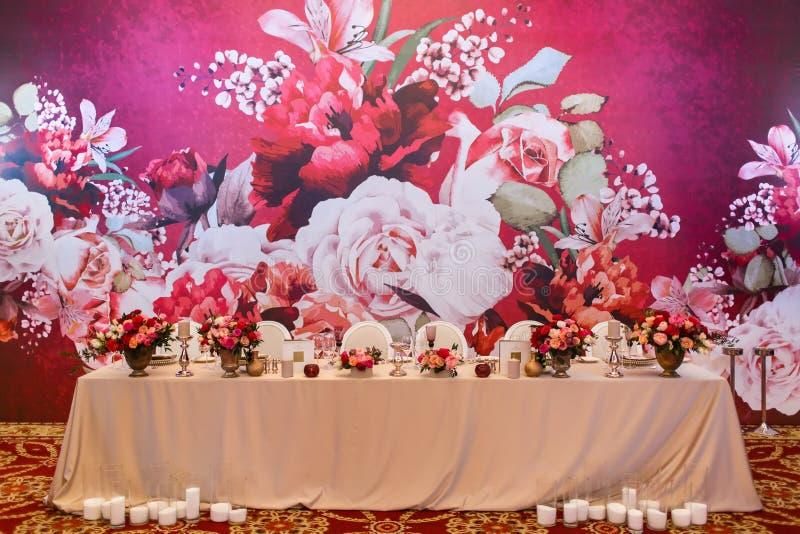 Ensemble de Tableau pour épouser ou un dîner approvisionné différent d'événement image libre de droits