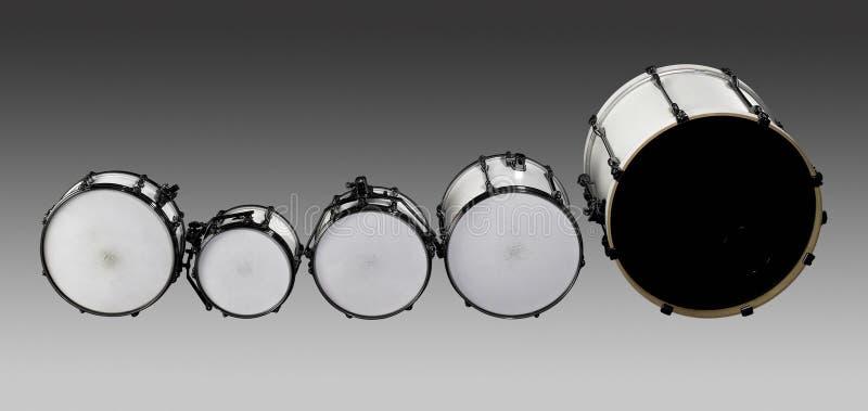 Ensemble de tambour images libres de droits