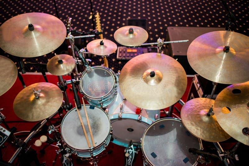 Ensemble de tambour images stock