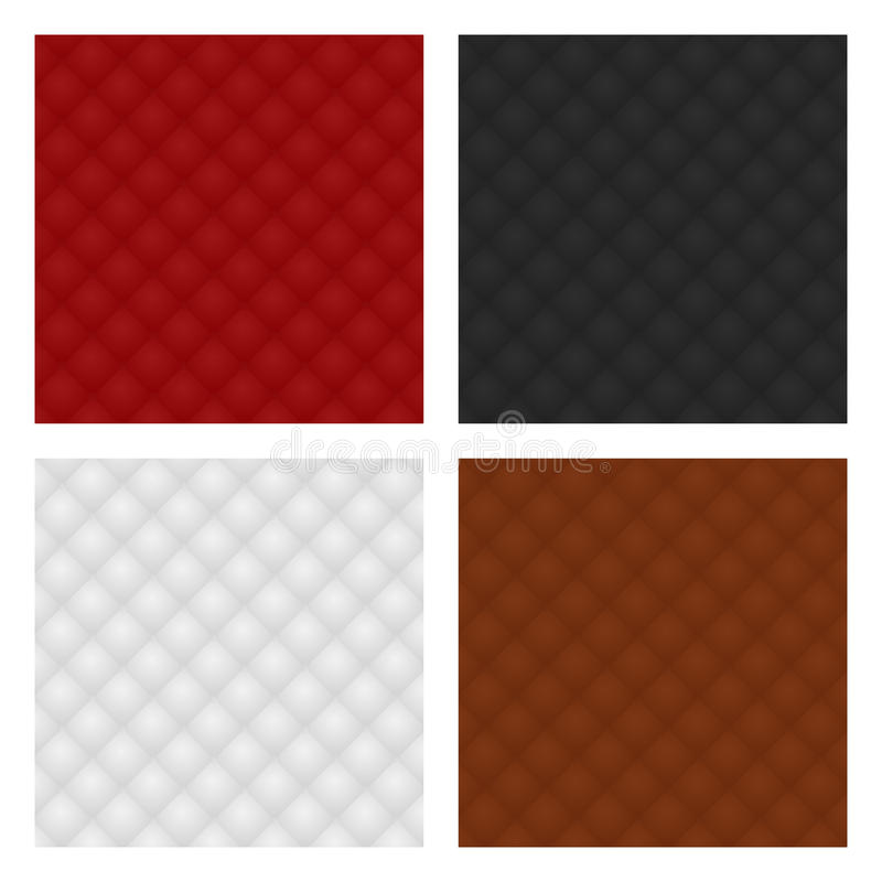 Ensemble de tapisserie d'ameublement en cuir Configuration image stock