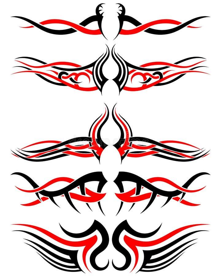 Ensemble de tatouages tribals illustration stock