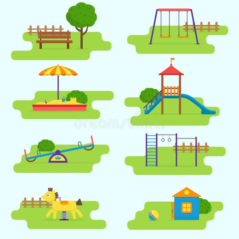 Ensemble de terrain de jeu d'enfants illustration libre de droits