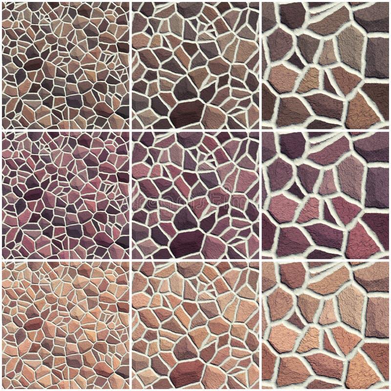Ensemble de texture en pierre sans couture illustration de vecteur