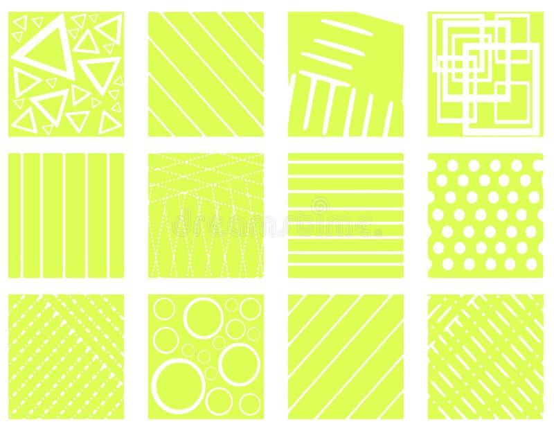 Ensemble de textures abstraites images stock
