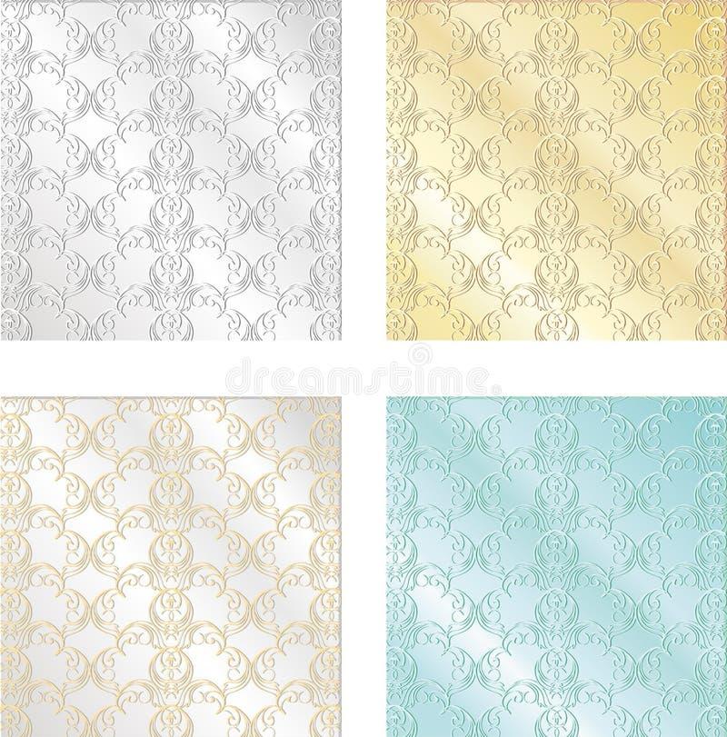 Ensemble de textures colorées de vintage Milieux sans couture pour Wallp illustration de vecteur