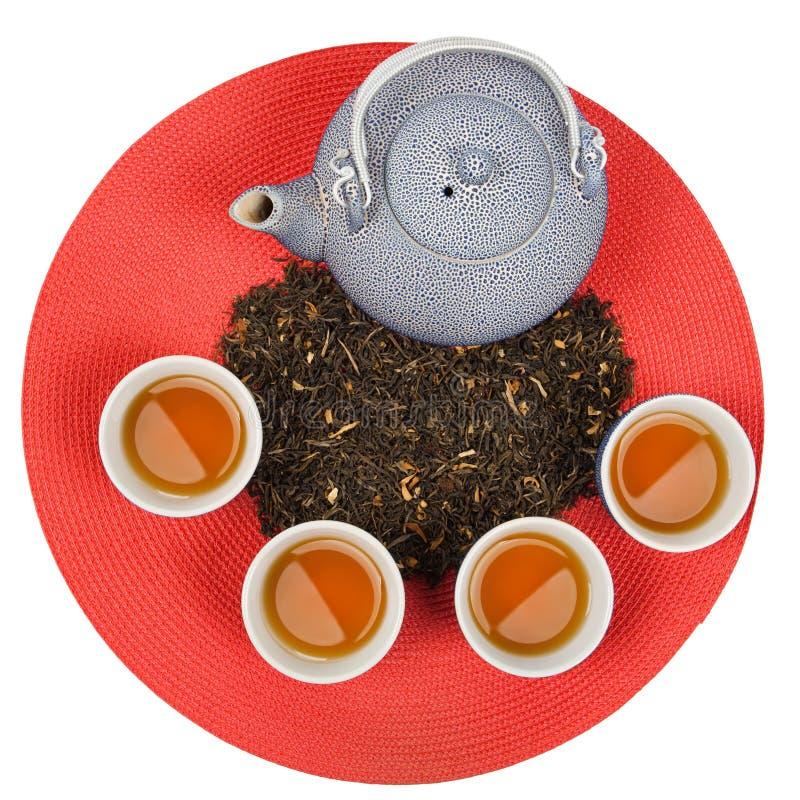 Ensemble de thé oriental sain photographie stock