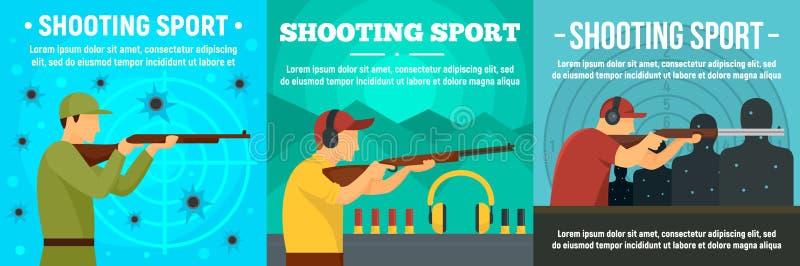 Ensemble de tir de banni?re de sport, style plat illustration libre de droits