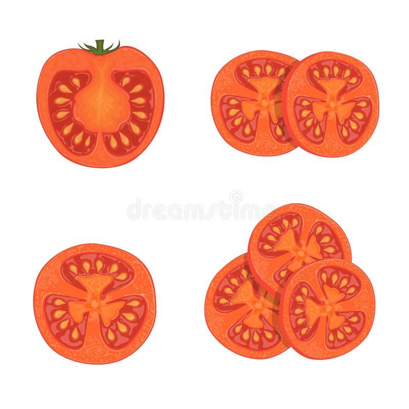 Ensemble de tomates illustration de vecteur