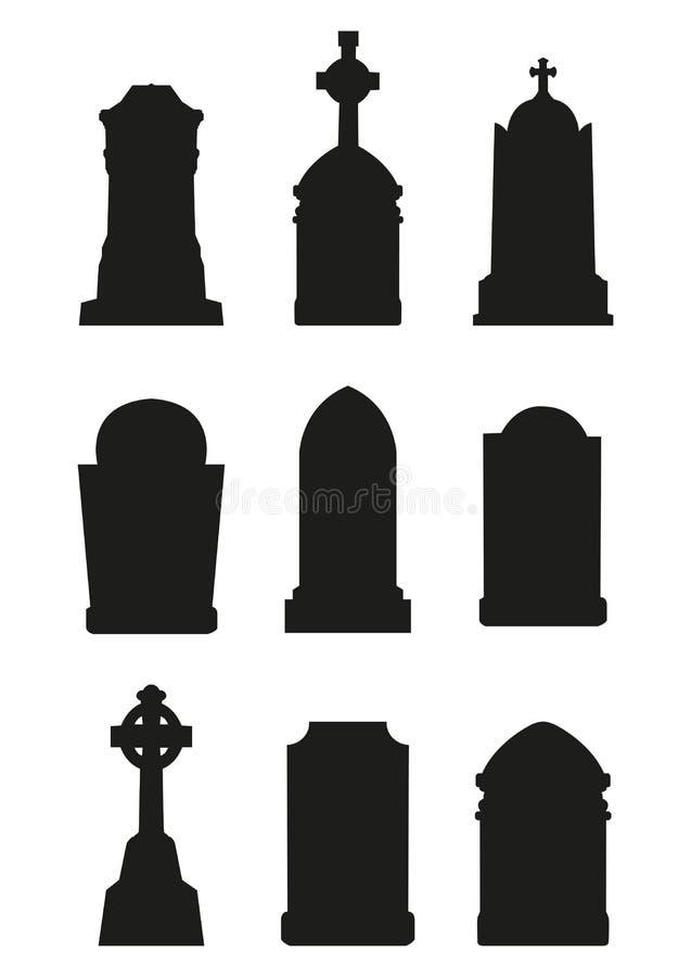 Ensemble de Tombstouns illustration stock