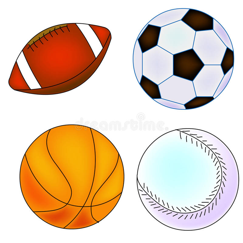 Ensemble de trains de base-ball et de sports illustration stock