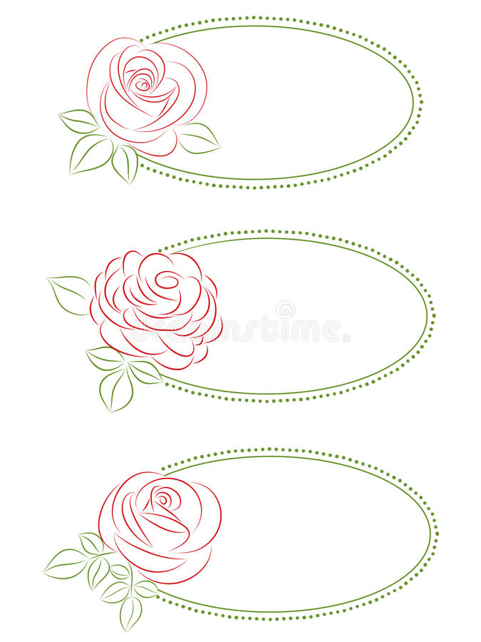 Ensemble de trames florales. illustration stock