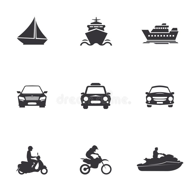 Ensemble de transport illustration stock