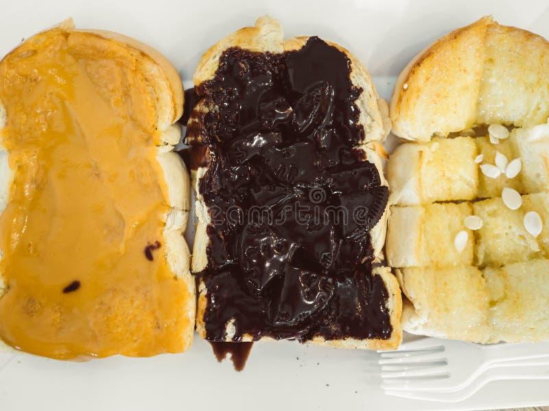 Ensemble de trois bonbons de pains grillés photo libre de droits